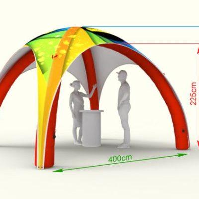 4х4м надувной шатер Х-тип