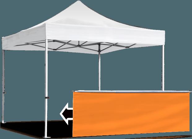 Стенка прилавок в половину высоты или юбка для шатра 3х3