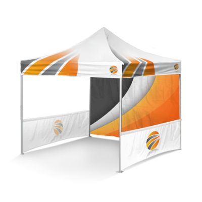 шатер брендированный с двумя полу-стенками