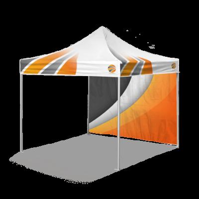 шатер с логотипом и брендированной стенкой