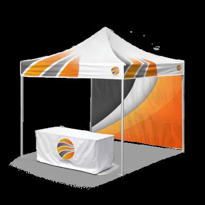 брендирование шатра и накидки на стол