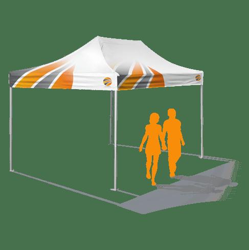 брендирование шатра 3х4,5