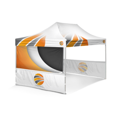 шатер брендированный 3х4,5, бренд стенка пол высоты