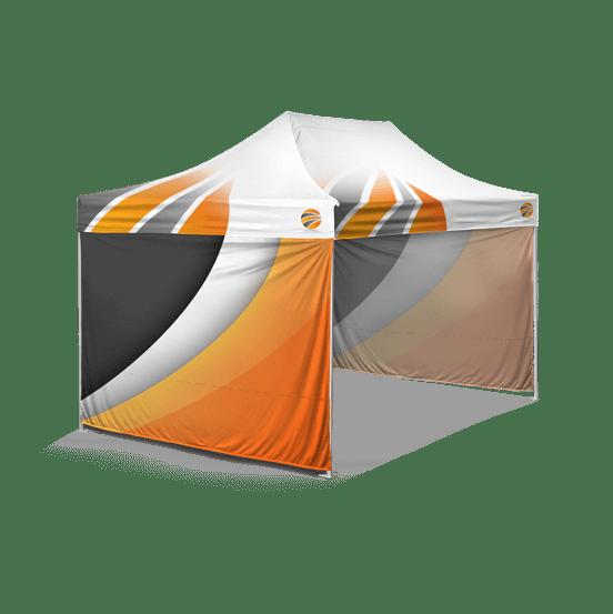 шатер брендированный 3х4,5, бренд стенка 3 штуки