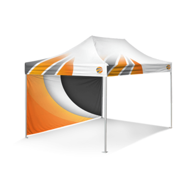 шатер брендированный 3х4,5 и бренд стенка