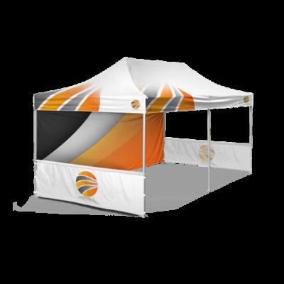 шатер 3х6 брендированный с двумя полу-стенками