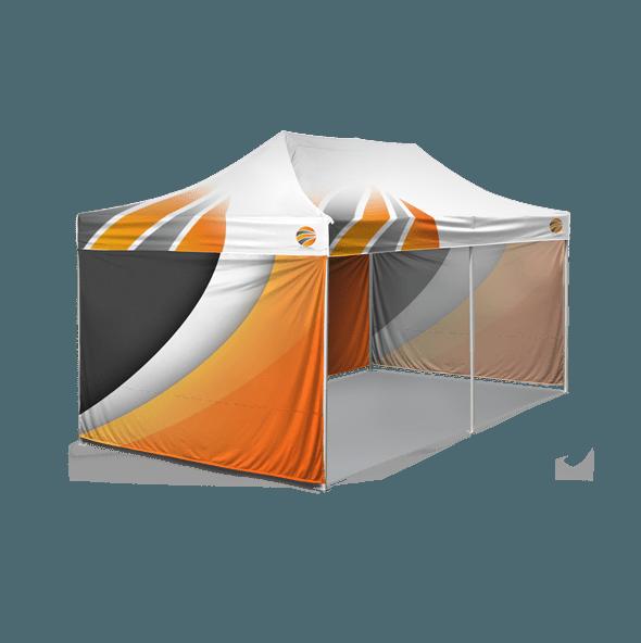 шатер 3х6 с брендированием крыши и стенок