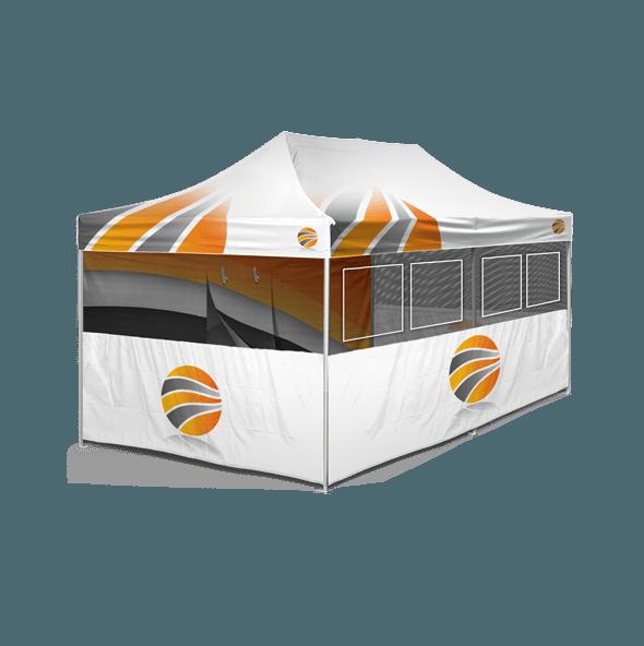 шатер брендированный 3х6, бренд стенка c окнами